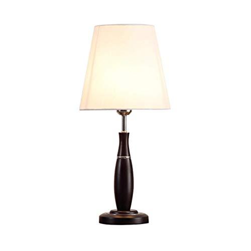 HTL Lámpara de Mesa Simple Dormitorio de Noche Lámpara de Noche Americana País de Madera Lámpara de Mesa de la Lámpara de Noche Lámpara de Lectura Lámparas de Escritorio para Dormitorio (Interruptor: