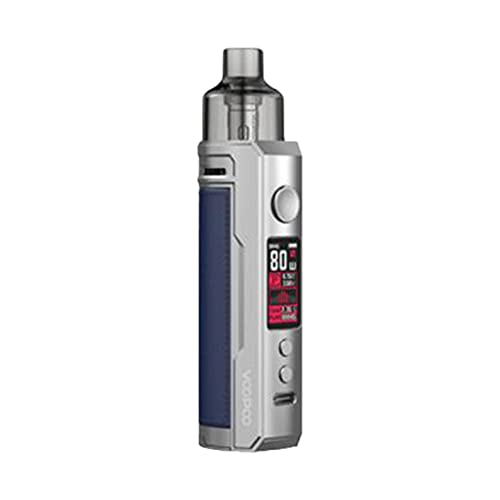 VOOPOO Drag X Mod Pod Kit 80W 4.5ml PnP Pod Tank GENE.TT Chip E-cig Sigaretta elettronica Vaporizzatore Pod System Vape Kit (Sliver Blue)