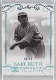 Babe Ruth #/50 (Baseball Card) 2017 Leaf Babe Ruth Immortal Collection - [Base] - Blue Spectrum #14