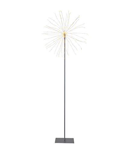 Star Firework 3D-LED-Standstern, Metall, Silber, ca. 50 x 130 cm