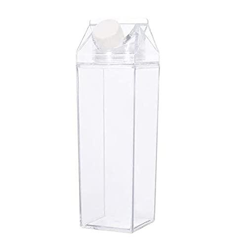 KinSanCup Botella de Agua Cuadrada Plana Masculina de Moda