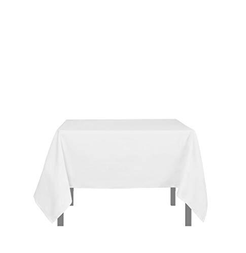 Soleil d'ocre Tischdecke mit Fleckschutz quadratisch 180x180 cm ALIX weiß