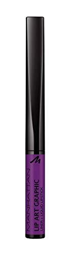Manhattan Lip Art Graphic 160 Master Piece in Lila Pflegender Lippenstift, für einen femininen Look, Maximale Farbintensität und langer Halt