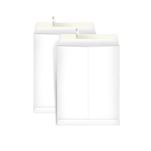AmazonBasics Catalog Mailing Envelopes, Peel & Seal, 9x12 Inch, White, 100-Pack - AMZP15
