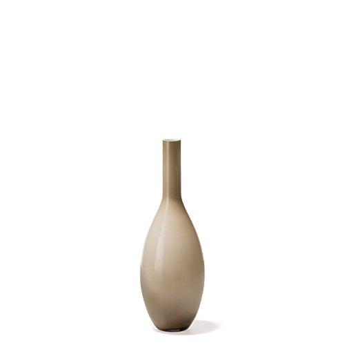 Leonardo Beauty Blumen-Vase, handgefertigte Deko-Vase, bauchige Tisch-Vase aus beige durchgefärbtem Glas, Höhe: 390 mm, 060777