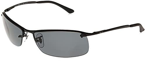 Ray-Ban - Gafas de sol Rectangulares RB3183P Top Bar, Black (002/81 Black)