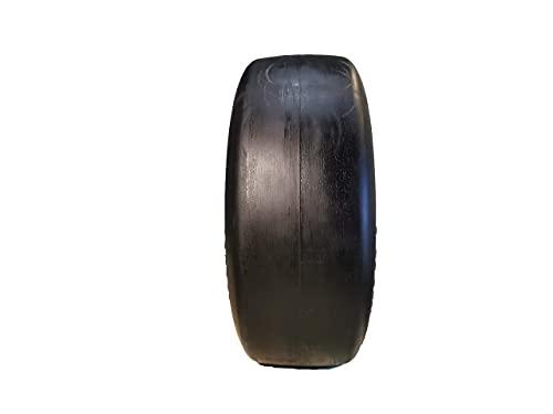 2 Nuevo neumático Liso para cortacésped antipinchazos de Grado Comercial 13x5.00-6 con Borde de Acero para cortacésped, Tractor y carritos de Golf, Cubo de 3.25-5.9', diámetro Interior & phi; 5/8'
