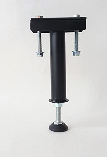 Pie de cama central / pie de refuerzo / pie de apoyo para somier   Altura: de 18 a 21 cm – Negro (PC200R)