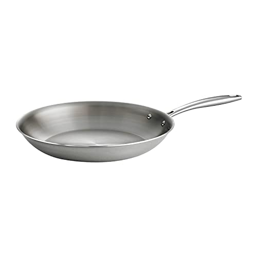 Tramontina Fry Pan Stainless Steel Tri-Ply Clad 12-inch, 80116/007DS