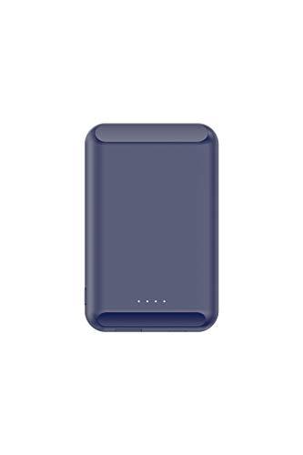 Mag-Safe Cargador magnético adsorbable Mini banco de energía ultrafino para iPhone 12 Pro Max imán portátil para teléfono móvil de carga inalámbrica (azul)