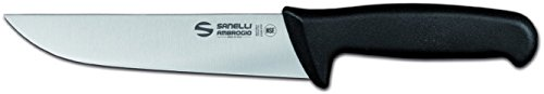 Sanelli Ambrogio Ambrogio Sanelli-Supra-Coltello Francese. Manico Ergonomico in Polipropilene, Colore: Nero. Lama: Liscia, in Acciao Nitro-B Inox all'azoto. Cm: 18, Stainless Steel, Grigio, 18 cm
