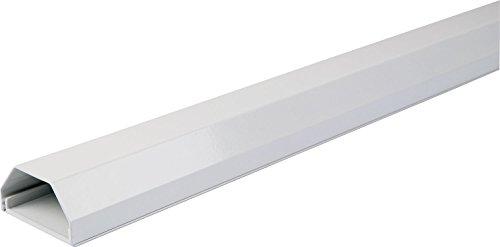 SCHWAIGER -9659- Kabelkanal aus Aluminium/Weiß / 1,1 m/flach/flexibel/für HDMI-Kabel/Schreibtisch/Smart-TV/PC/Lautsprecher/Büros/Wohnzimmer/Telefon/Sat/Lan-Kabel/Internet