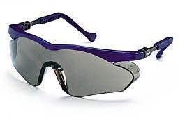 Uvex Arbeitsschutzbrille / Bügelbrille 9197 skyper sx2, blau, Scheibenfarbe: grau, Schutz: 5-2,5