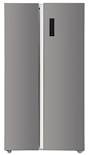 Panasonic 592 L Wifi Inverter Frost-Free Side by Side Refrigerator (NR-BS62MKX1, Black, Stainless Steel Finish)