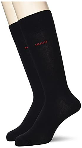 HUGO Herren 2P RS Uni CC Socken, Black1, 43-46