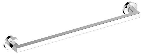 KEUCO Badetuchhalter aus Metall, hochglanz-verchromt, 60cm lang, für Badezimmer oder Sauna, für Handtücher, Wandmontage, Handtuchstange, Edition 90