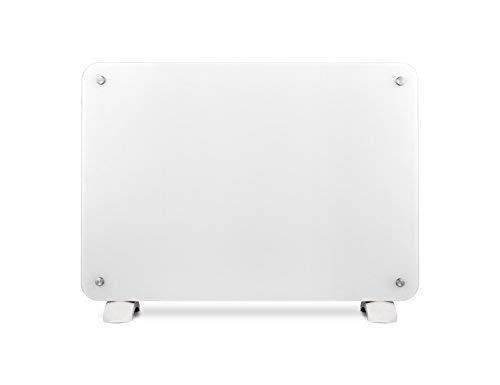 Haverland OSYRIS-15 | Convector Cristal | 1500W | Portátil / Pared | Calefactor Eléctrico Programable | Termostato Digital LCD | Timer | Diseño Elegante | Soportes Incluidos | Blanco
