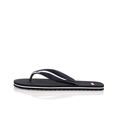 Levi's Herren 229817-753-60_43/44 flip-Flops, Black, EU