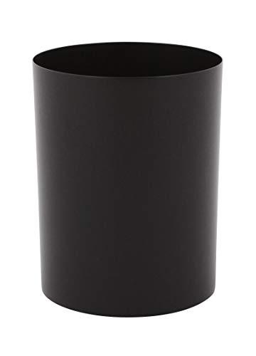 Papierkorb aus Stahl 13 Liter, VB 051304, Schwarz