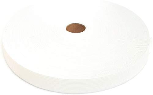 25 Meter Gummiband, 20 mm, weiß