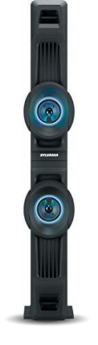 Sylvania Bluetooth LED Light-Up FM Radio Tower Speaker SP800