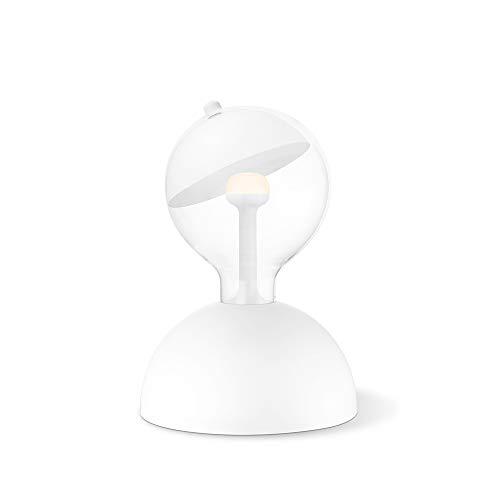 Move Me Lampe de table avec câble et commutateur Lampe de chevet créative Support de lampe de bureau Base de l'ampoule hémisphérique DIY Lampe Fixture E27 Max.15W Ampoule non incluse Bumb Blanc mat
