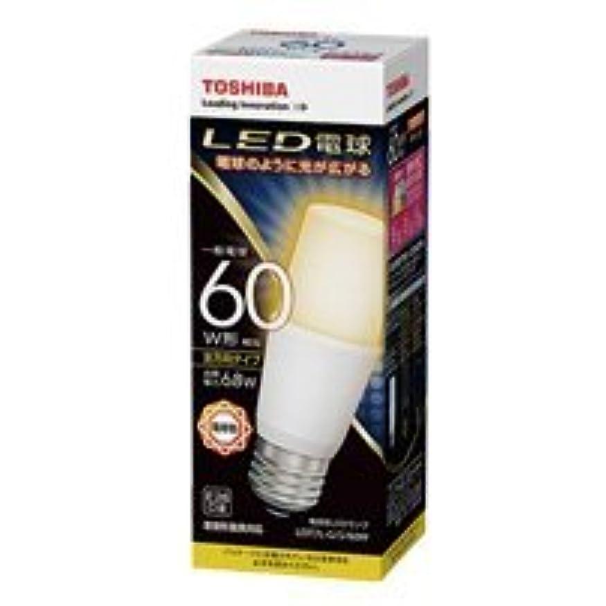 約設定いくつかの里親東芝 LED電球 E26口金 T形 白熱電球60W形相当 電球色 全方向 LDT7L-G/S/60W LDT7L-G/S/60W