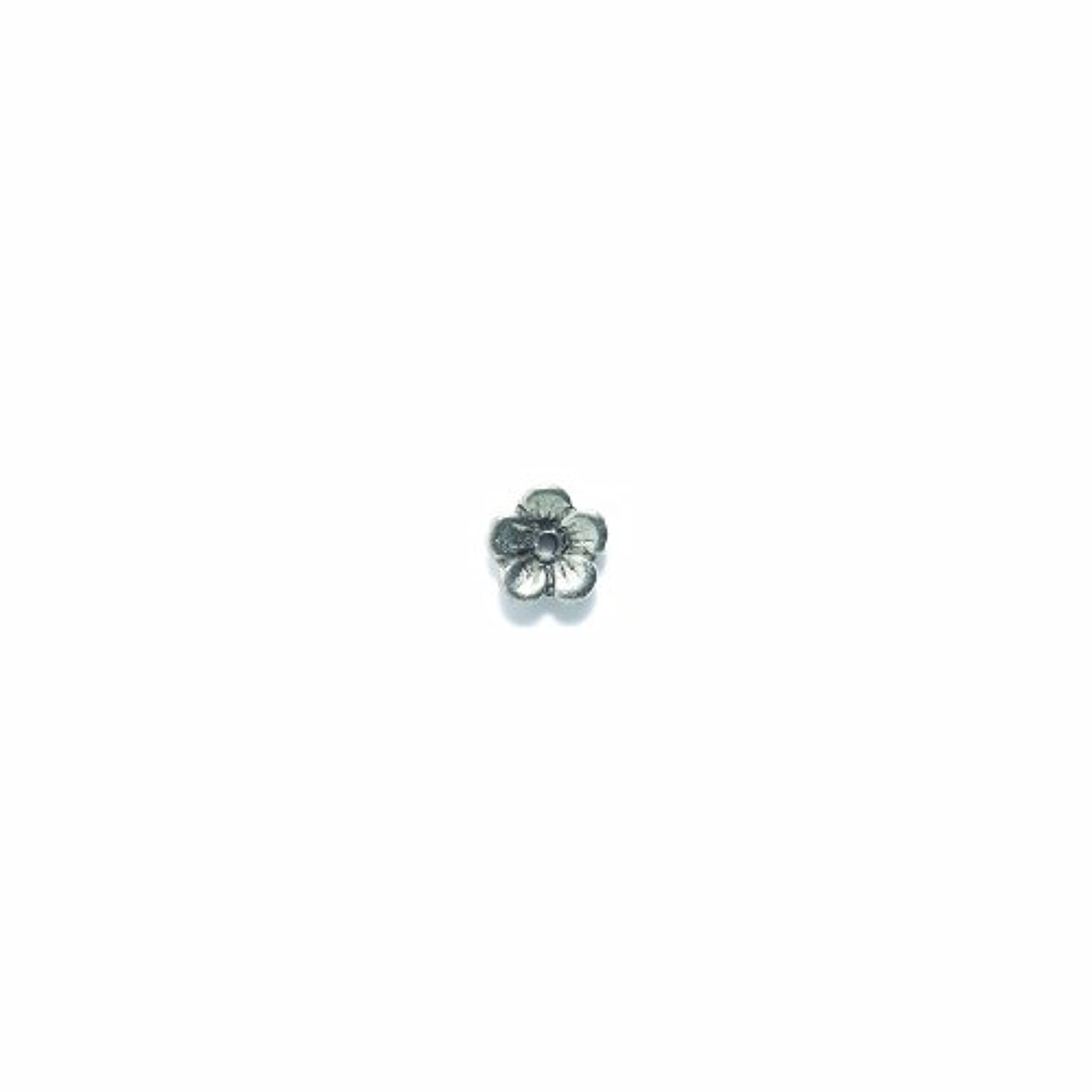 Shipwreck Beads Pewter Flower Center-Hole, Metallic, Silver, 11mm, 8-Piece