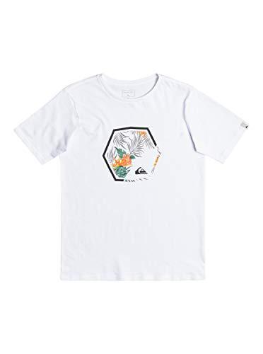 Quiksilver Fading out, Camiseta Niños, Opacity, White, M/12