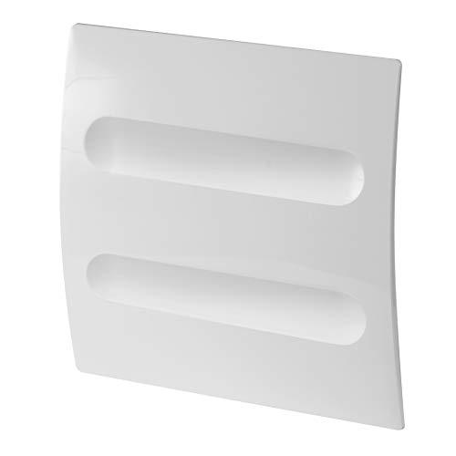 MKK Ventilateur d'habitation - Diamètre : 100 mm - Blanc - Puissant - 14 W - Clapet anti-retour - Pour salle de bain et WC