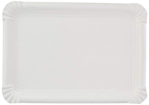 García de Po, Bandejas Pastelería de Cartón, Set de 250, 23 x 17 cm, Blanco