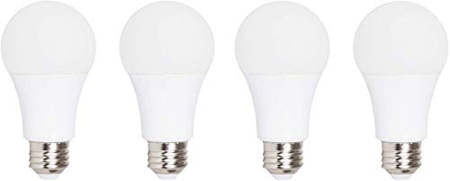 Ciata Lighting LED Smart Emergency Light Bulb with Rechargeable Battery Back-up - Intelligent Lighting, Lasts 3-4 Hours During Power Outage - Extra Hook for Camping, Outdoor (4 Pack)
