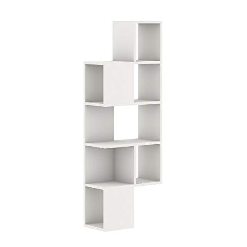 Homemania Mensola Gerba, Legno, Bianco, 50x25x143 cm