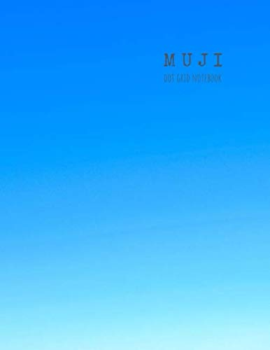Muji dot grid notebook: Dot grid journal notebook minimalist, 8.5 x 11 (blue cover)
