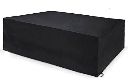U/A Staubschutz für Gartenmöbel, wasserdicht, wind- und UV-beständig, 210D-Oxford-Gewebe, langlebig und leicht zu reinigen (schwarz)