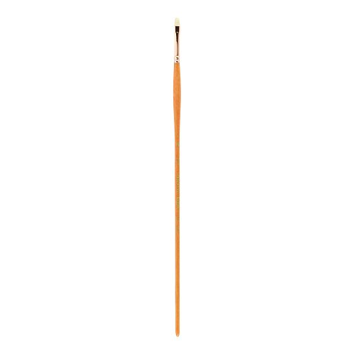Princeton Refine Artist Brush, Brushes for Oil and Acrylic Paint, Series 5400 Natural Chunking Bristle, Bright, Size 1