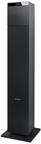 Muse BTC Enceinte Colonne avec Bluetooth, FM, CD, USB, télécommande Noir