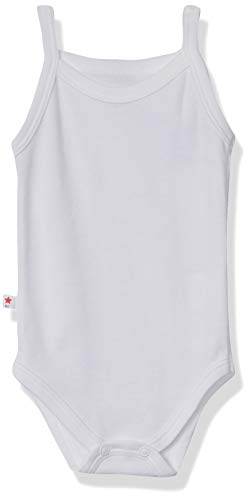 Baby Creysi Body para Bebé, color Blanco, 6 Meses