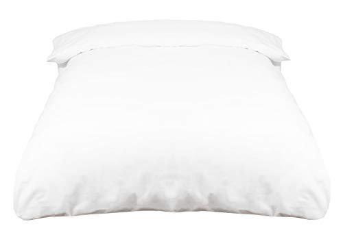 ZOLLNER Funda nórdica de algodón 100%, Blanca, Cama 135-150 cm, en Otra Medida