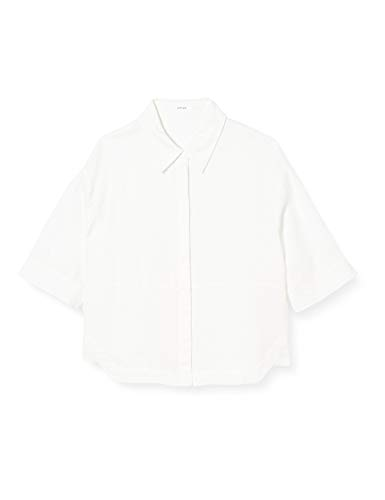 OPUS Damen Friedi Linen Bluse, Milk, 40