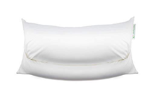 mySheepi Kissenbezug Home - Kopfkissen-Bezug Aus 100% Baumwolle Für Nackenstützkissen - Weiß, 60 x 40 cm