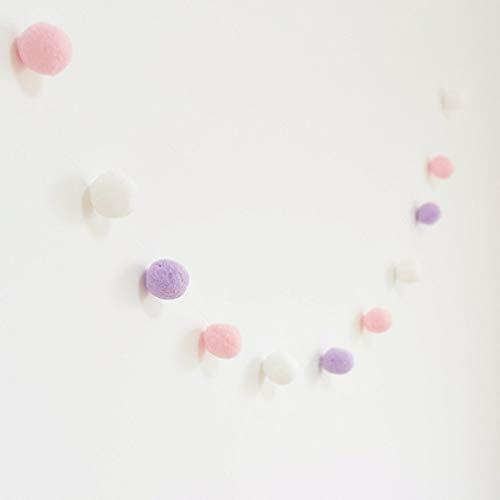 Kitechildhssd Bolas de Colores para Teepee Pom Poms Juguete de Fieltro para niños Decoración de Carpa para niños