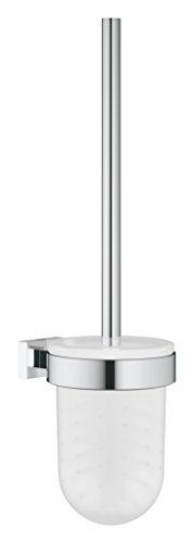 GROHE Essentials Cube Bad-Accessoires -Toilettenbürstengarnitur (Material: Glas / Metall) chrom, 40513001