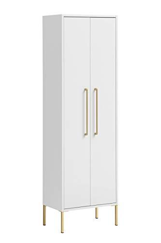 Schildmeyer Gloria Highboard 148437, weiß/Gold, 154,7 x 46,2 x 30,1 cm