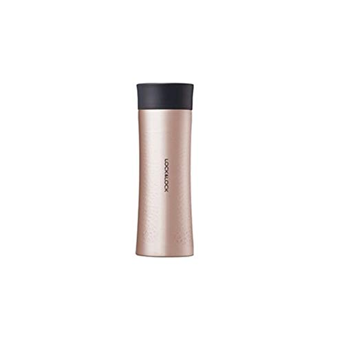 LOCK & LOCK Thermobecher to go - DIAMOND TUMBLER - Isolierflasche Edelstahl auslaufsicher - Thermo Isolierbecher Kaffee, Tee & Kaltes 400ml, gold-pink