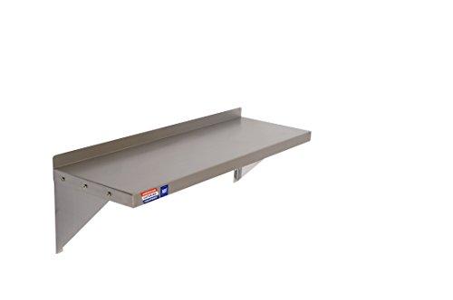 Roestvrij stalen wandplank - inclusief beugels en bevestigingen - 914 x 305 mm (36