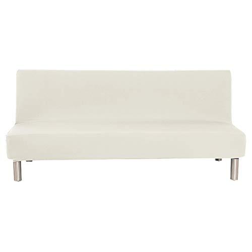 CENPENYA Funda Protectora para sofá Cama sin reposabrazos de poliéster y Elastano, elástica, Plegable, Protector para Futón Couch Bench (Blanco,S)