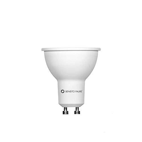 Beneito Faure System - Lampadina LED GU10, 8 W, dimmerabile, sostituisce lampadine alogene da 75 W, 650 lumen, 3000 K, angolo di diffusione di 60°