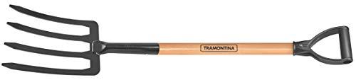 Tramontina Spatengabel, 4 Zinken, Länge 100 cm, Stiel mit D-Griff, braun