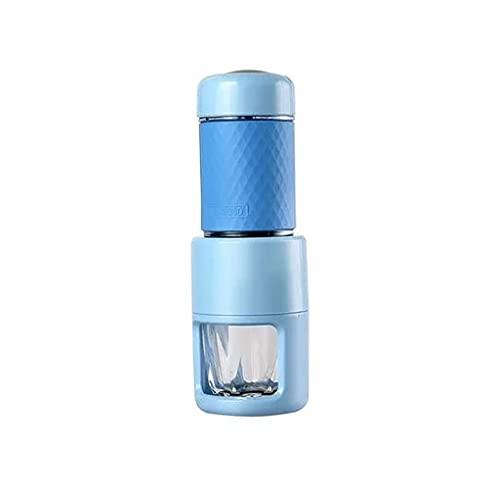 Ekspres do kawy, wielofunkcyjna ekspres do kawy, maszyna do kawy kapsułki ze stali nierdzewnej, z funkcją blokującą, przez wiele okazji (Color : Blue)